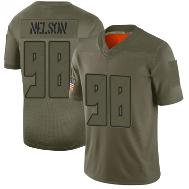 Men's Nike Tampa Bay Buccaneers Anthony Nelson 2019 Salute to Service Jersey - Camo Limited
