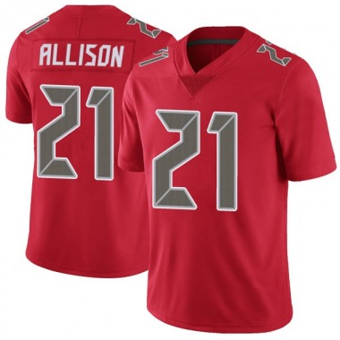 Men's Nike Tampa Bay Buccaneers Jalen Allison Color Rush Jersey - Red Limited