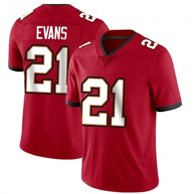 Men's Nike Tampa Bay Buccaneers Justin Evans Team Color Vapor Untouchable Jersey - Red Limited