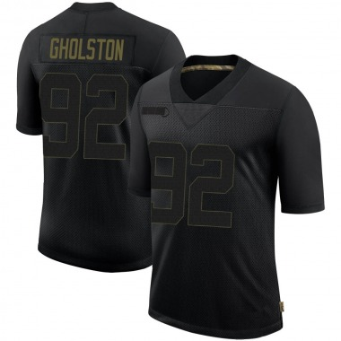 Men's Nike Tampa Bay Buccaneers William Gholston 2020 Salute To Service Jersey - Black Limited