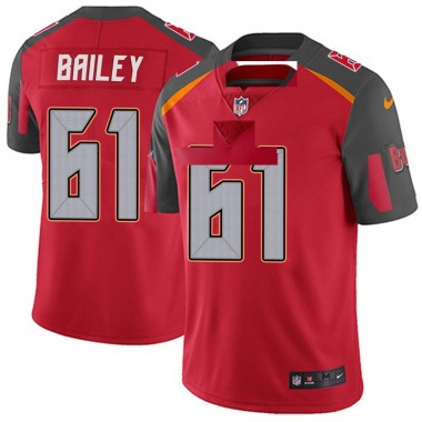 Men's Nike Tampa Bay Buccaneers Zack Bailey Team Color Vapor Untouchable Jersey - Red Limited