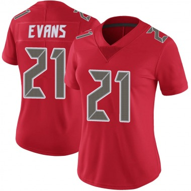 Women's Nike Tampa Bay Buccaneers Justin Evans Color Rush Jersey - Red Limited