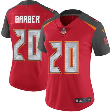Women's Nike Tampa Bay Buccaneers Ronde Barber Team Color Jersey - Red Limited