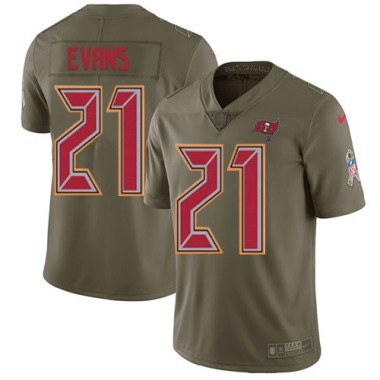 Youth Nike Tampa Bay Buccaneers Justin Evans 2017 Salute to Service Jersey - Olive Limited