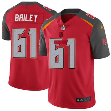 Youth Nike Tampa Bay Buccaneers Zack Bailey Team Color Vapor Untouchable Jersey - Red Limited